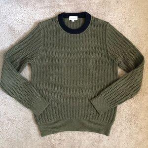 Club Monaco Knit Wool Cotton Crewneck Sweater
